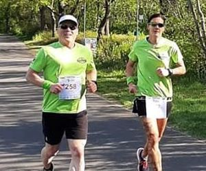 Heiko Björn und Ariane Buhtz absolvierten die Marathon-Distanz zwischen Magdeburg und dem Wasserstraßenkreuz.