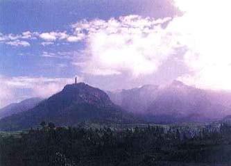 中国の赤城山・天台山遠景