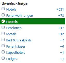 hotel suchmaschine für hostels