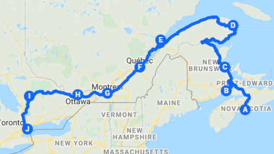 Kanada Reisetipps Osten Route