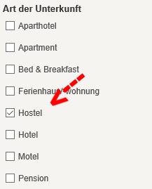 hotelsuchmaschinen vergleich On suite Zimmer selektieren