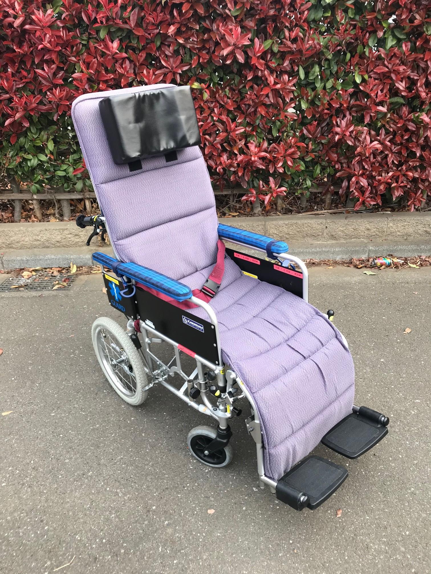 布地クッション付 リクライニング車椅子