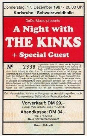 """Eintrittskarte aus  Karlsruhe. Von wegen """"Ruhe"""" - da ging's richtig zur Sache."""