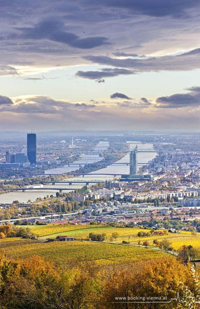Blaue Donau, Nußberg Blick, booking Vienna, günstige Hotels in Wien