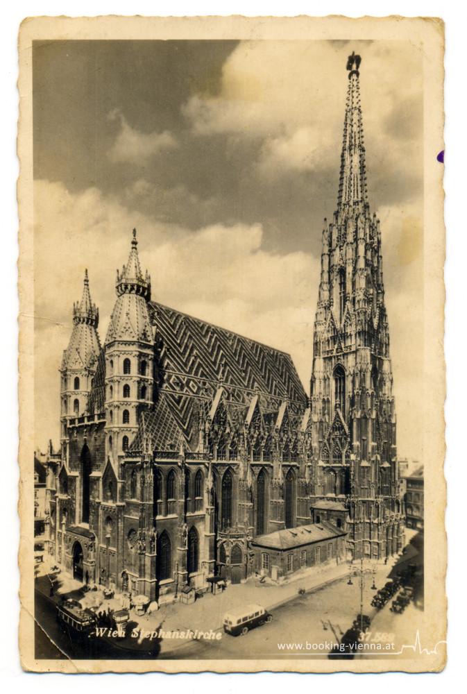 Stephansdom Wien, Historisches Foto, booking Vienna, Hotel Vienna buchen, Hotels in Wien