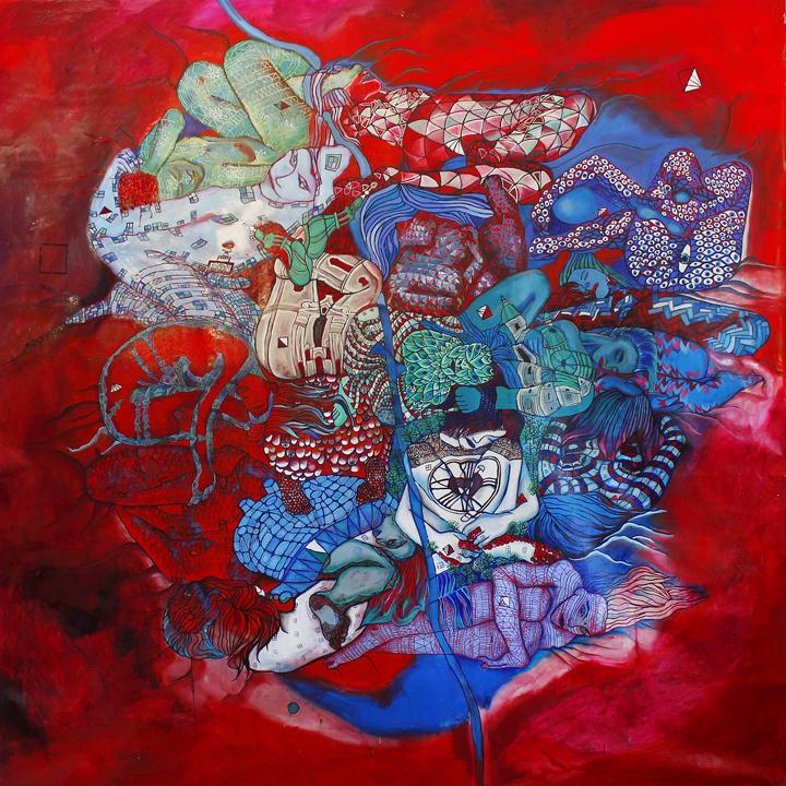 GRAZ . oil on canvas . 250 x 250 cm