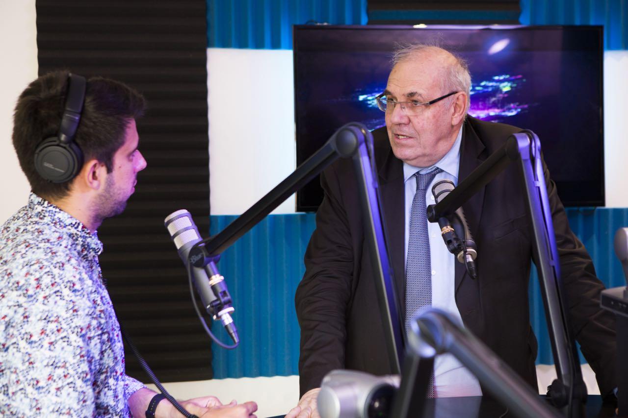 Nicolas Curien, membre du CSA, au micro de Simon Marty pour Euradio et Playloud