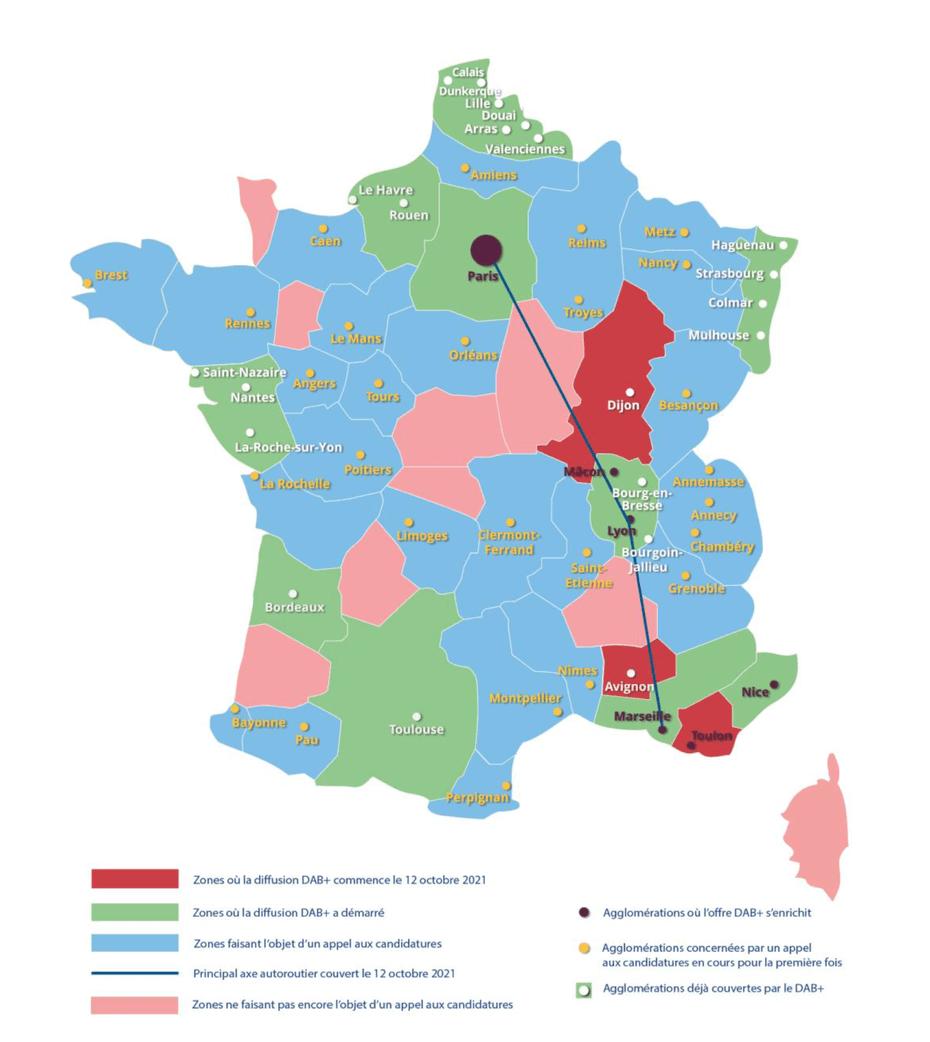 La radio numérique terrestre en DAB+ continue son déploiement en France métropolitaine