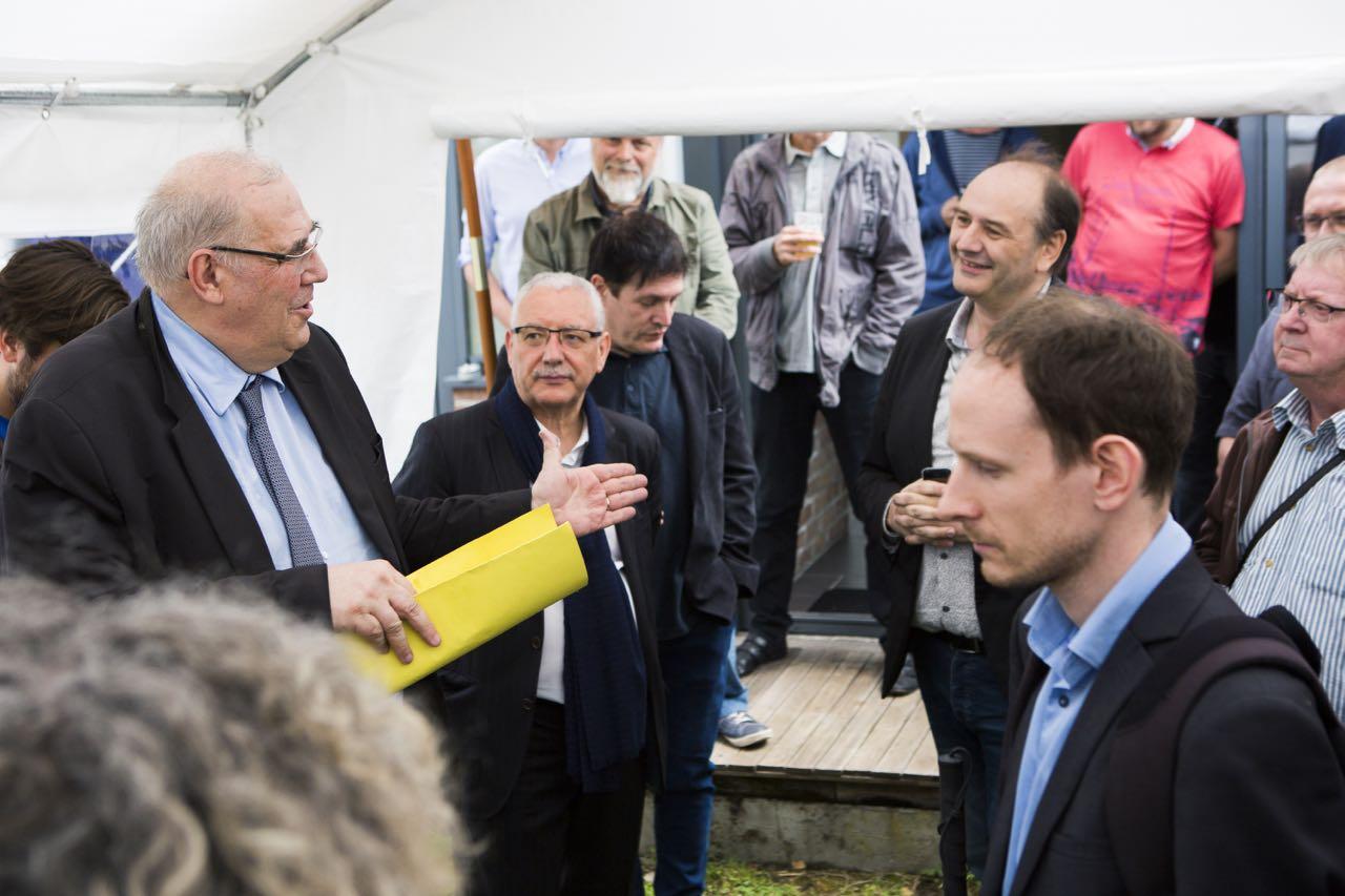 Nicolas Curien, membre du CSA, prend la parole pour célébrer la première année du DAB+ à Lille et dans les Hauts-de-France