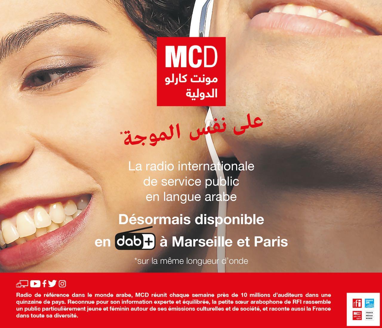 Monte Carlo Doualiya diffusée en DAB+ à Paris, en Île-de-France et à Marseille dès le 9 février 2021