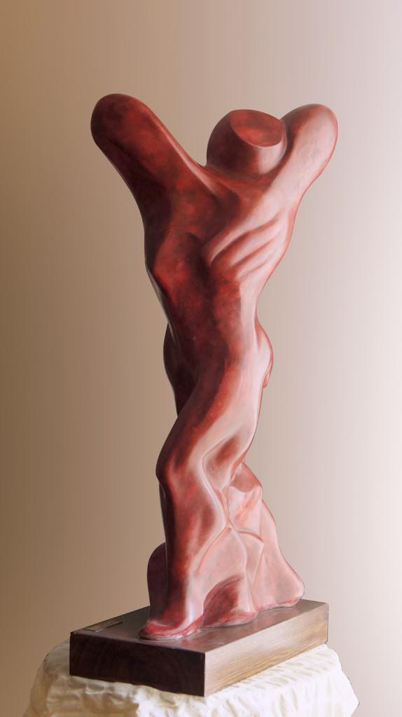"""DIMENSIONE E LIBERTA'.  Primo Premio """"Via Nazareth""""- Sala Rossa Castello Svevo Barletta 2005. MOTIVAZIONE: """"Per l'armonica soluzione di un assunto creativo elaborato con equilibrio compositivo rispondente alla sintesi di una fine interpretazione""""."""
