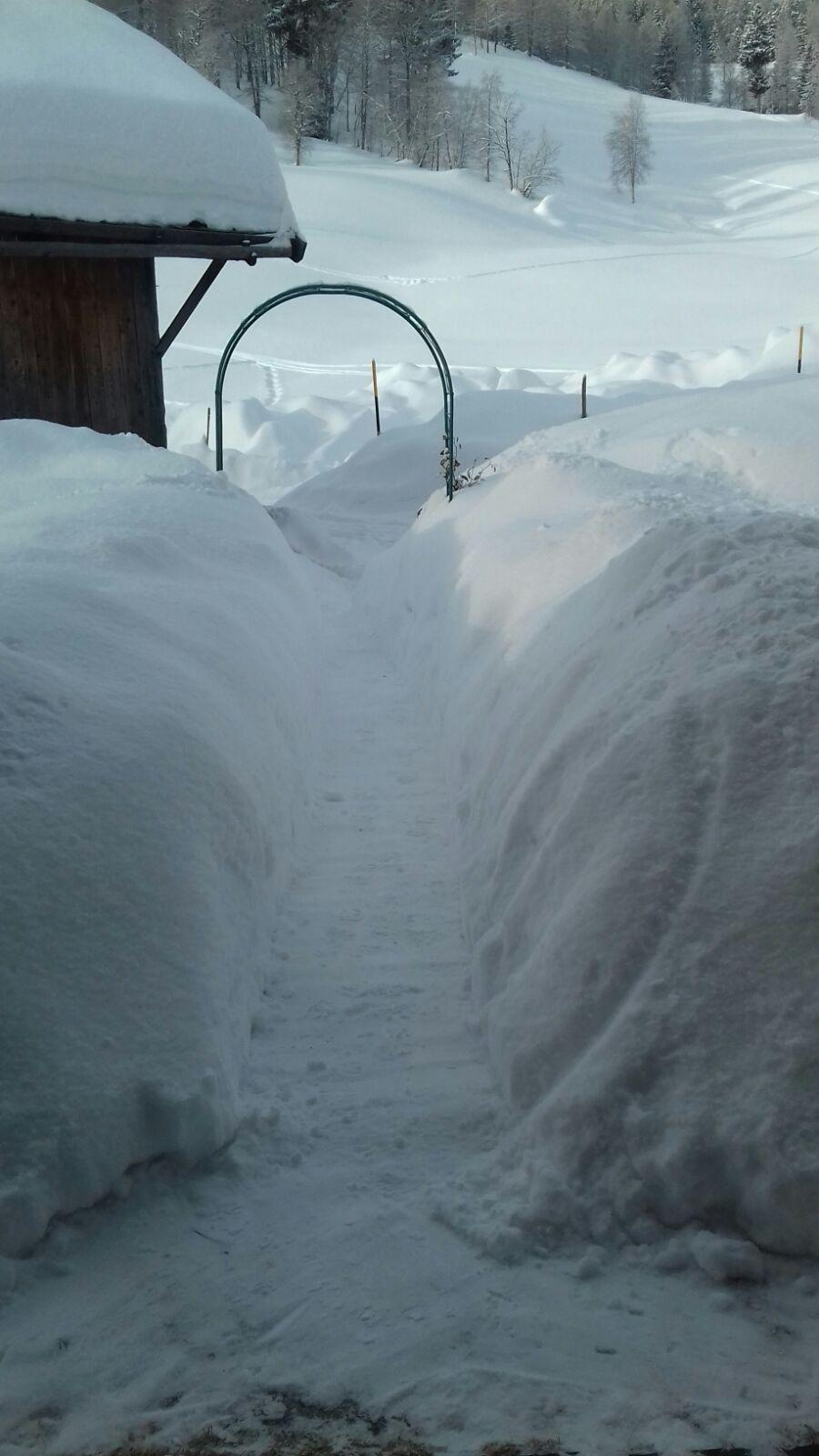 Soviel Schnee gibt es schon auch mal
