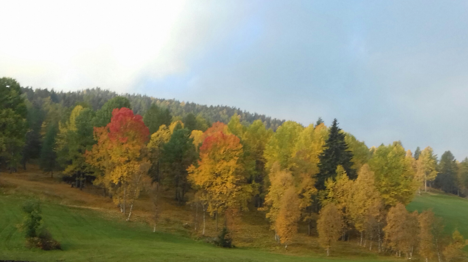 Herbstimpression oberhalb des Hauses