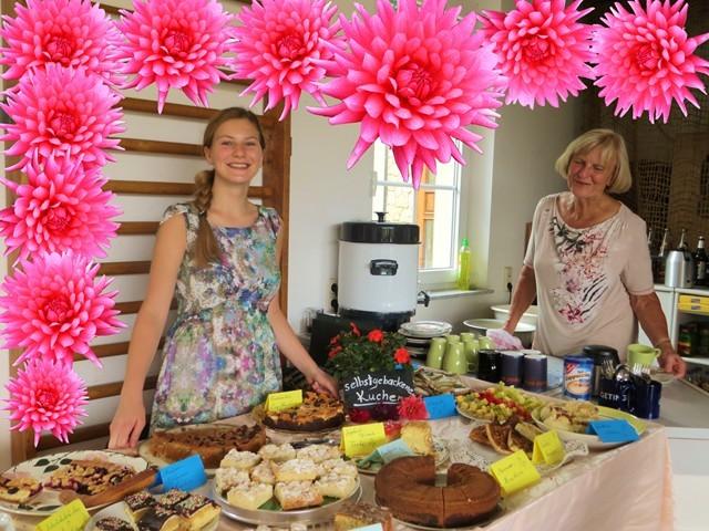 Im Dahliencafé in unserer Gärtnerei gab es einen herzlichen Empfang für jeden hungrigen Gast