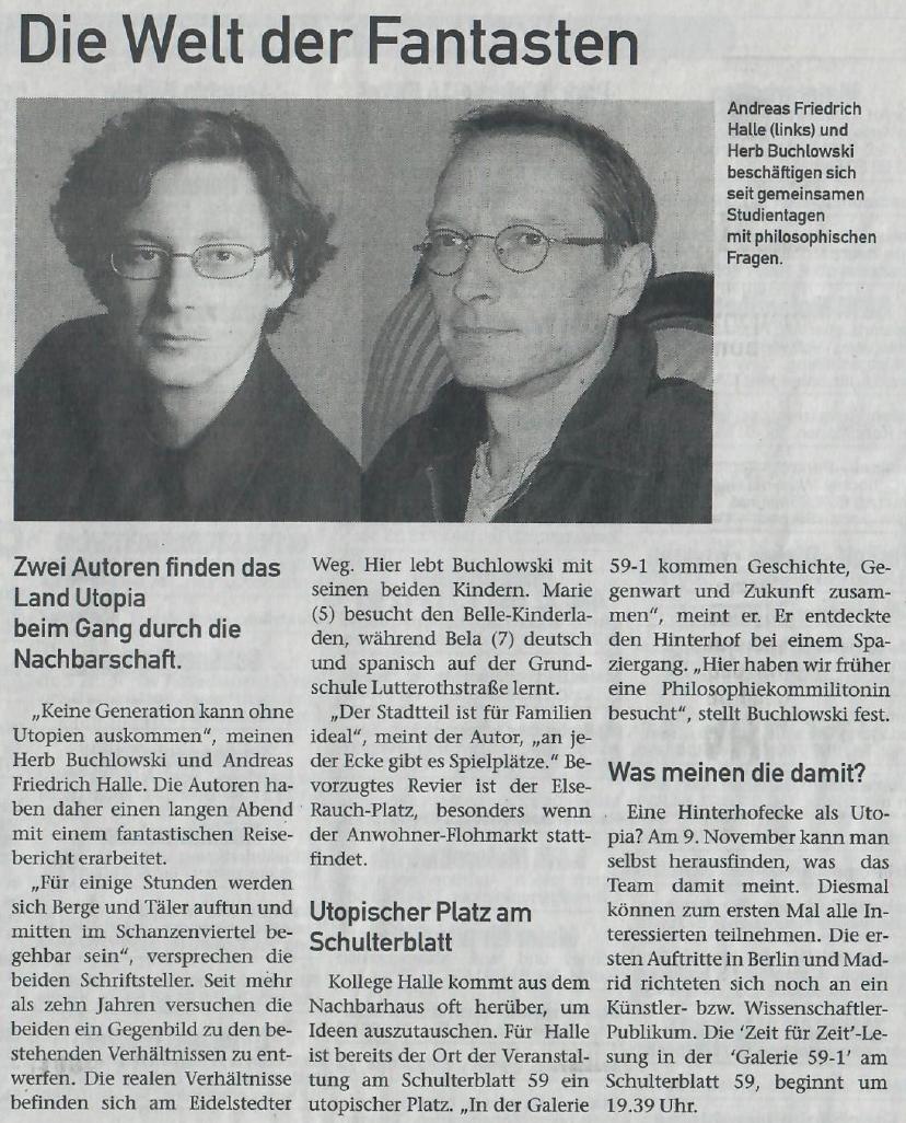 Eimsbüttler Wochenblatt, 6.11.2003
