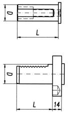 Technische Zeichnung Stangengreifer 1