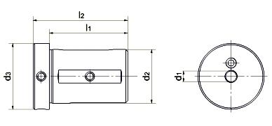 Technische Zeichnung Kombi-Einsatzhülsen