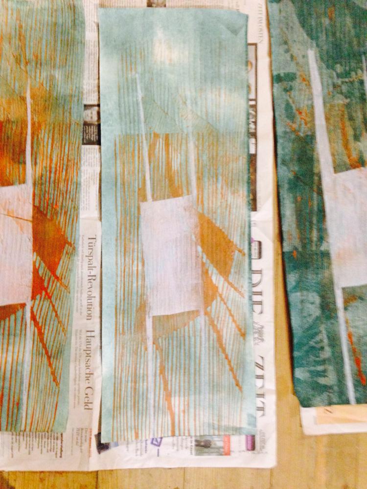 Holzschnitt auf Werkdruckpapier