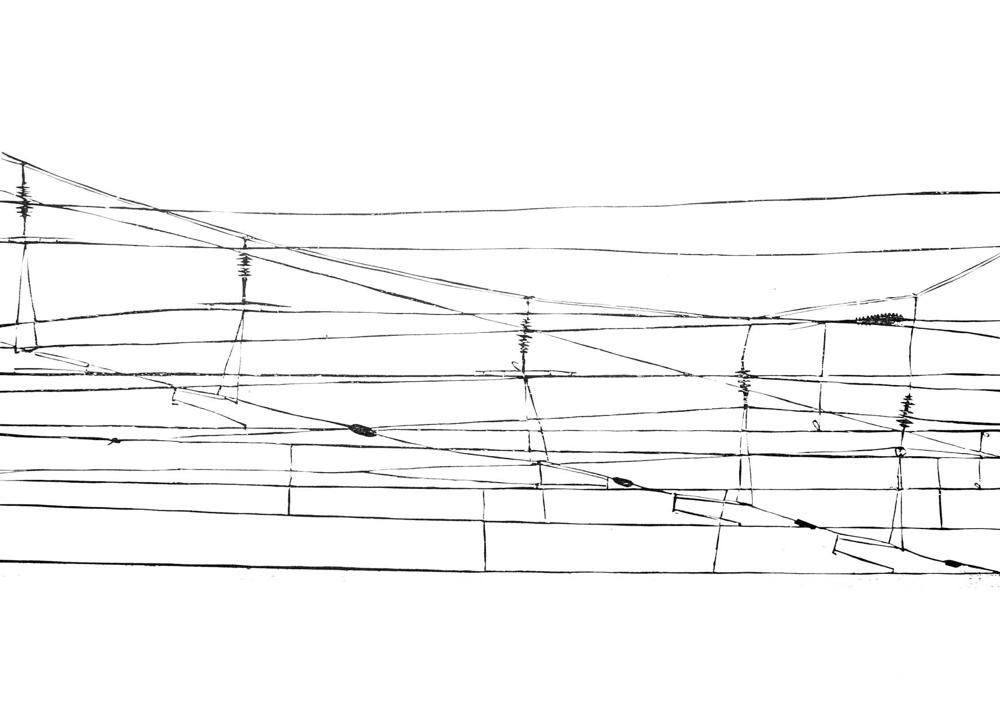 Fernweh Holzschnitt auf Japanpapier