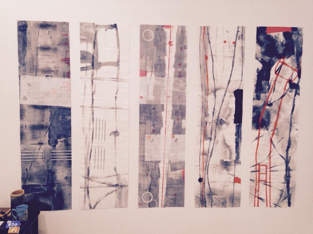 Zeichnungen in der Jarfogalerie in Kyoto