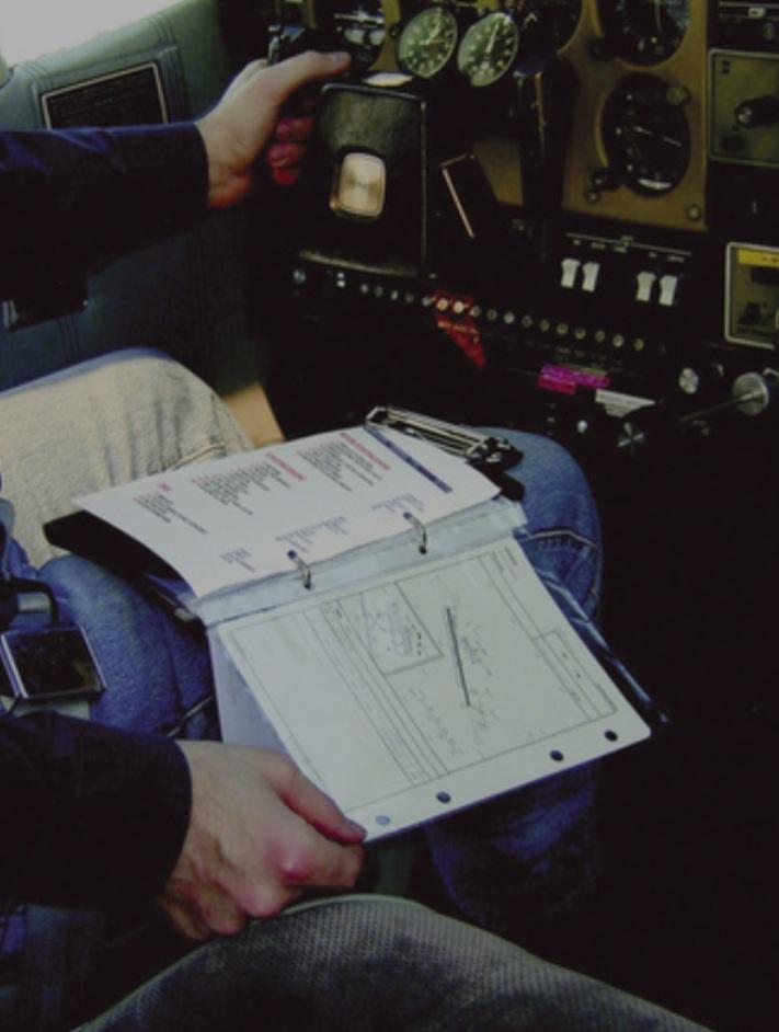 Kniebrett für Flugdokumente