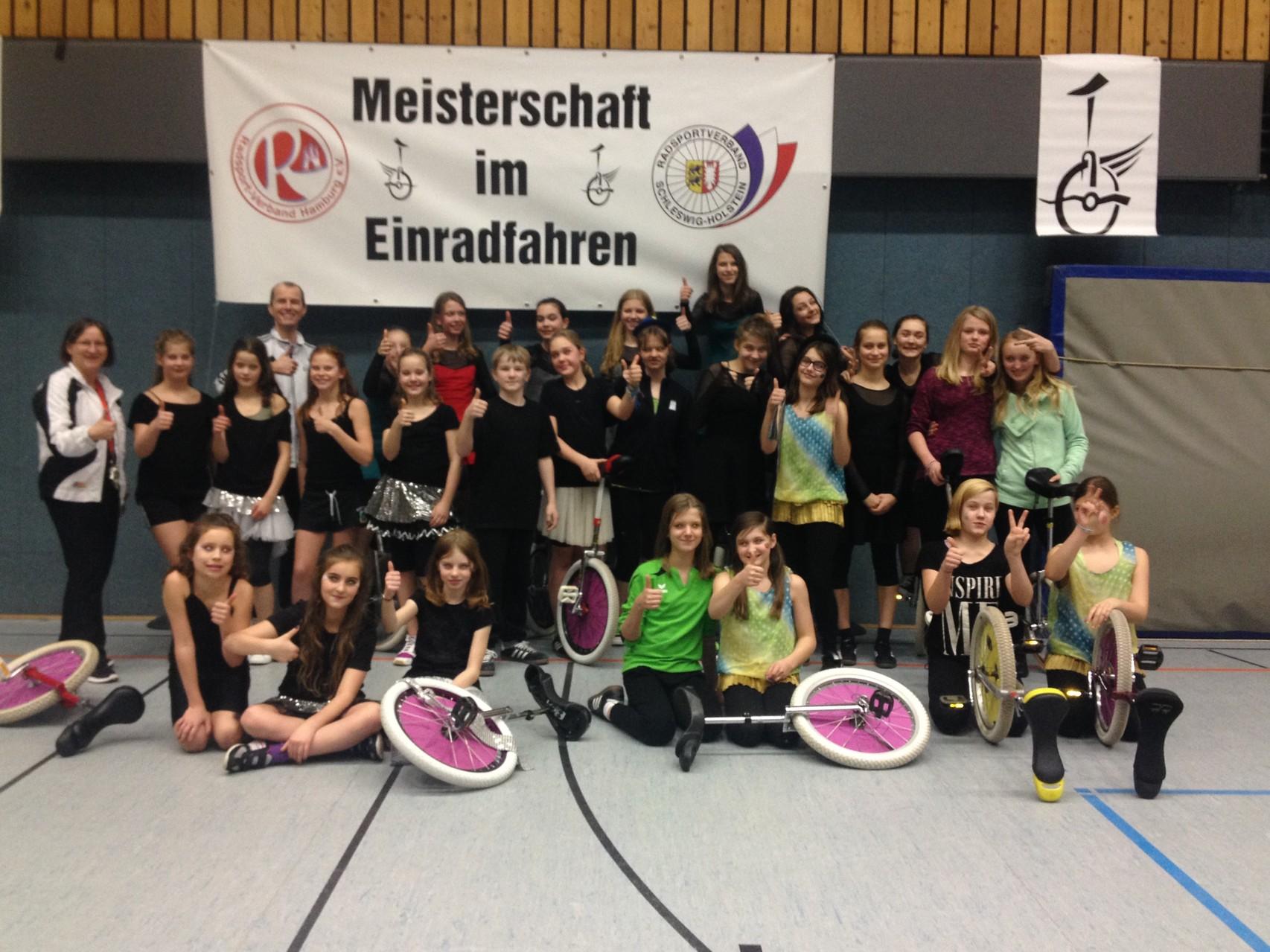 Die Einradkids Hamburg vom SiB-Club