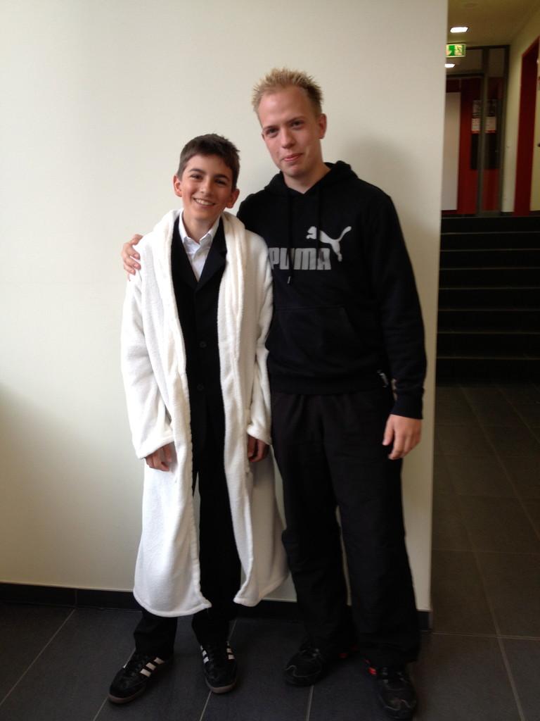 Udo Jürgens alias Tim-Kevin- mit seinem Manager Patrick S
