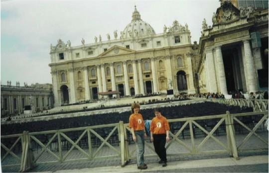 Oliver Sievers und Erika Sievers in Rom