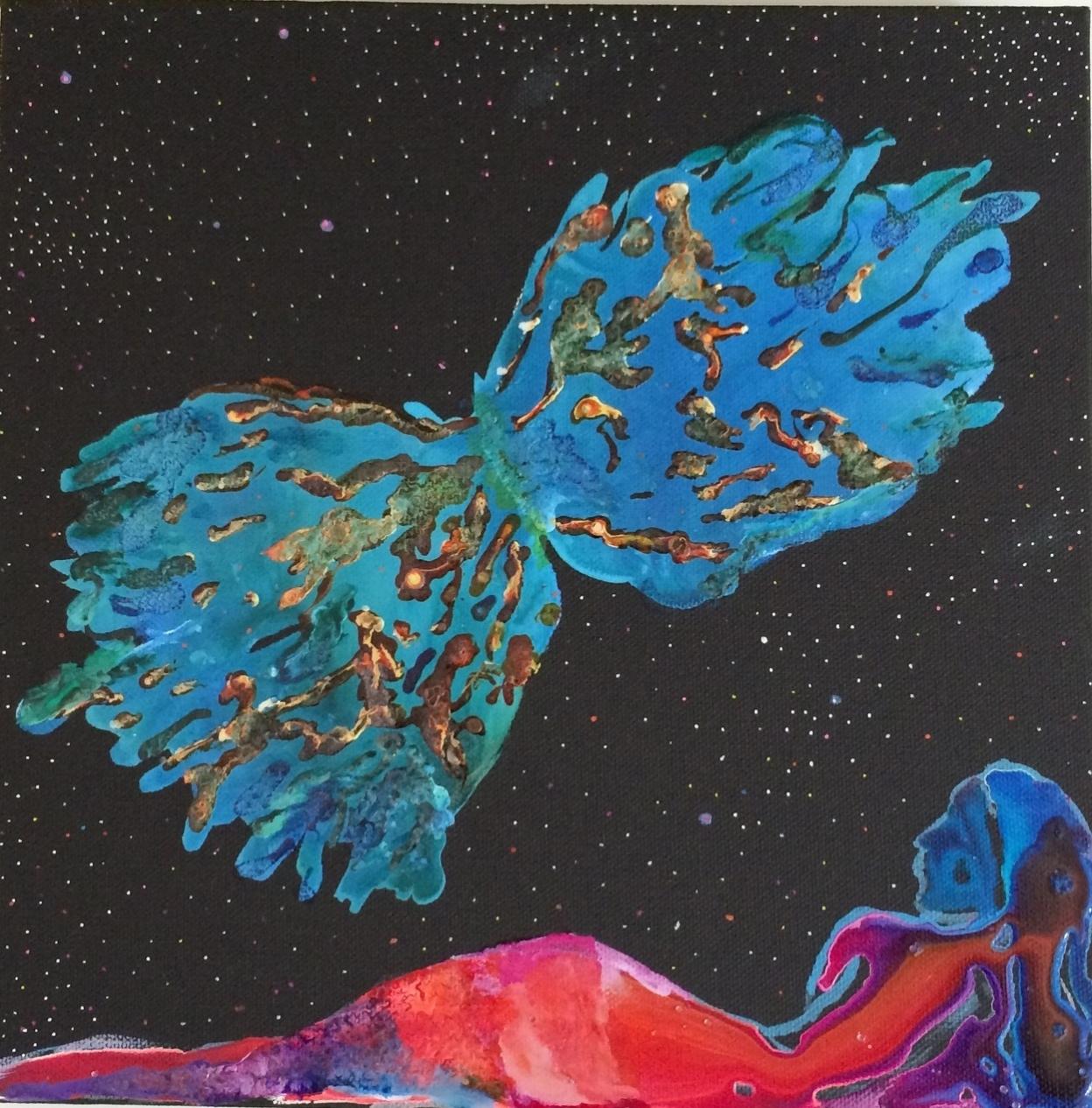 NGC 6302 La nébuleuse aimée et son Papillon Flambé. Appartient à Marie-Odile Monchicourt