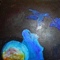 Colibri porteur des âmes, lien entre l' Univers et nous, cosmogonie Guarani