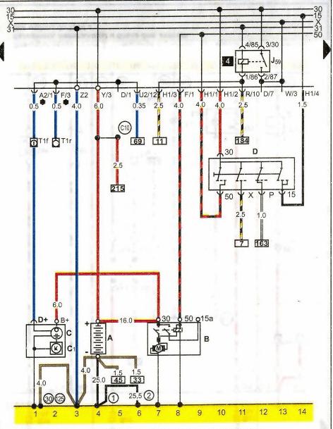 Vw Passat B3 B4 Wiring Diagrams Car Electrical Wiring Diagram