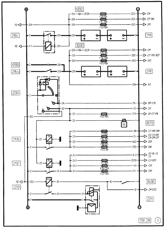 midlum truck power, start wiring diagram
