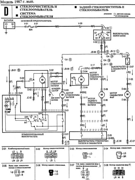 Mazda 323 Wiring Diagrams
