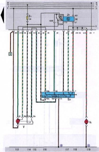 jetta 2 windshield wiper & washer wiring diagram
