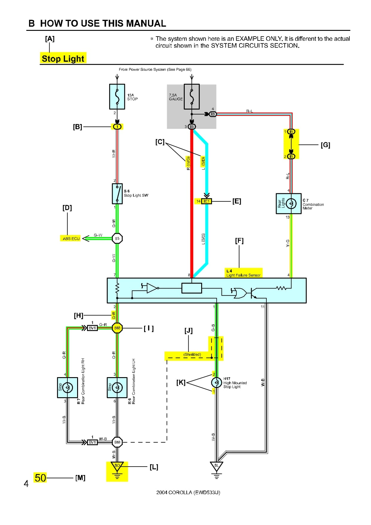 TOYOTA COROLLA Wiring Diagrams - Car Electrical Wiring Diagram
