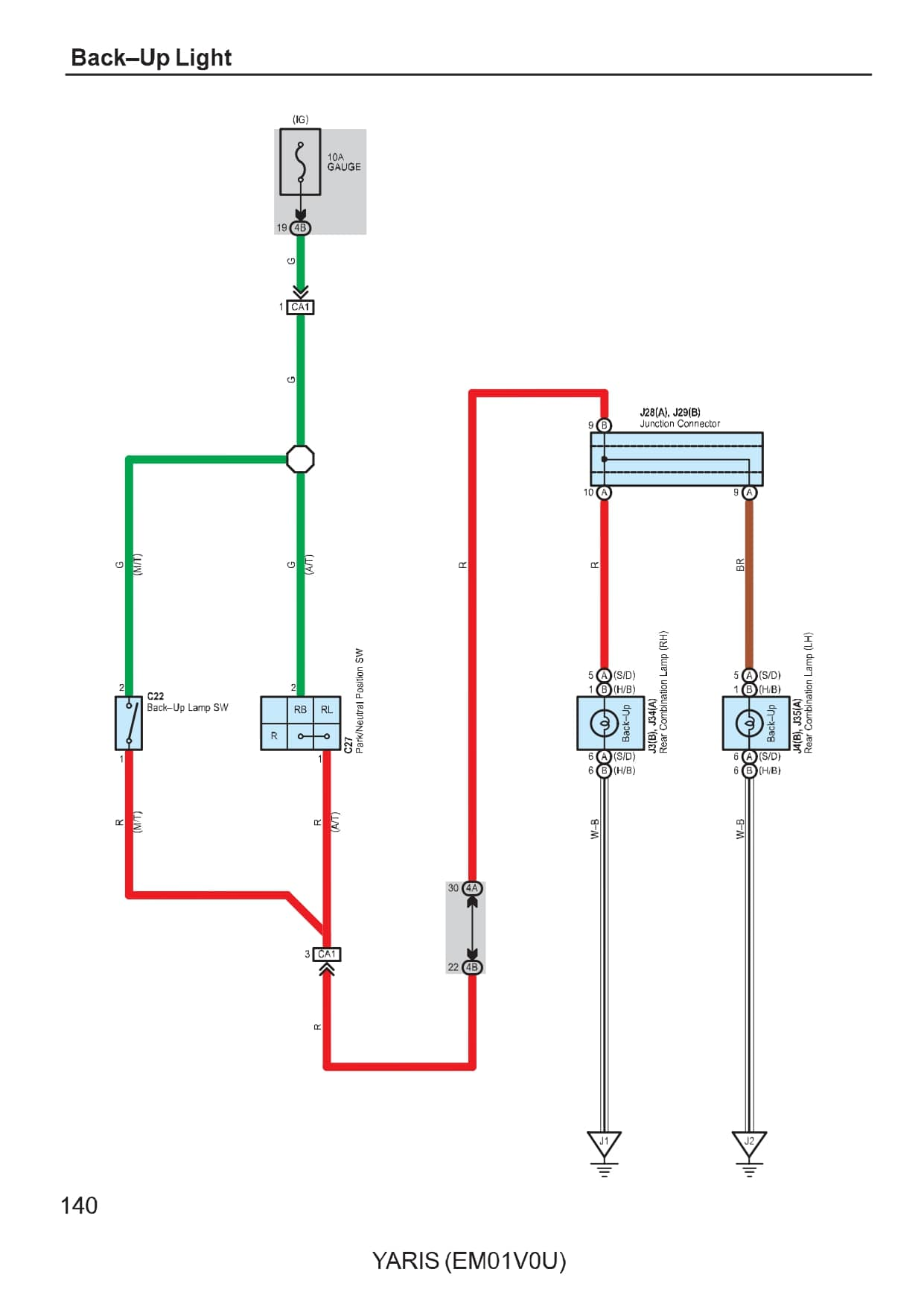 Toyota Yaris Wiring Diagrams Car