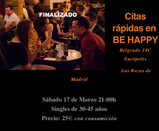 Eventos speed dating madrid