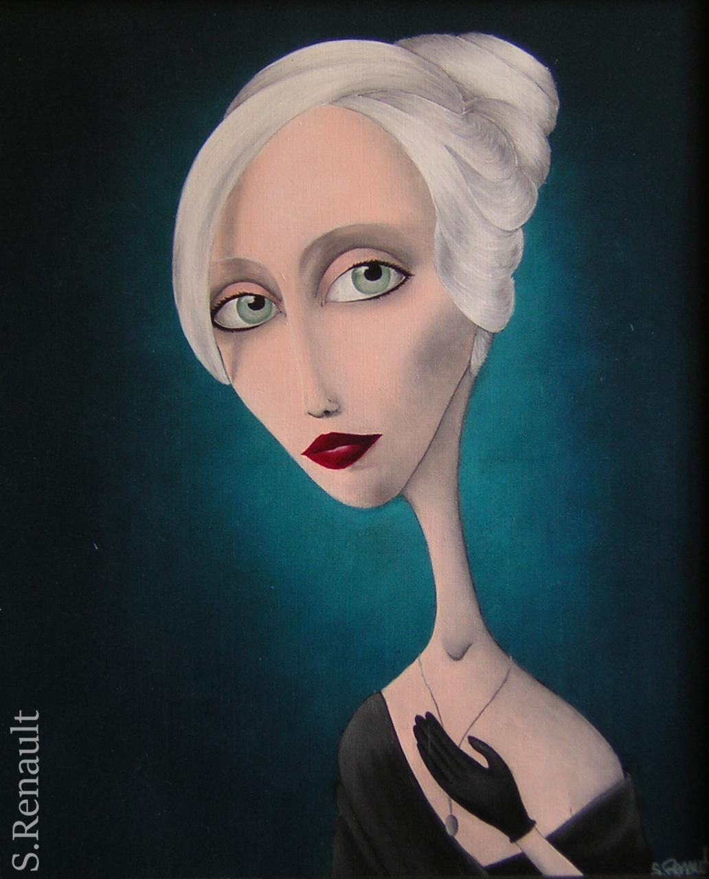 Jeune-Fille au Médaillon (61x50 cm) 2011