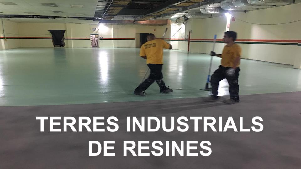 Terres industrials de resines