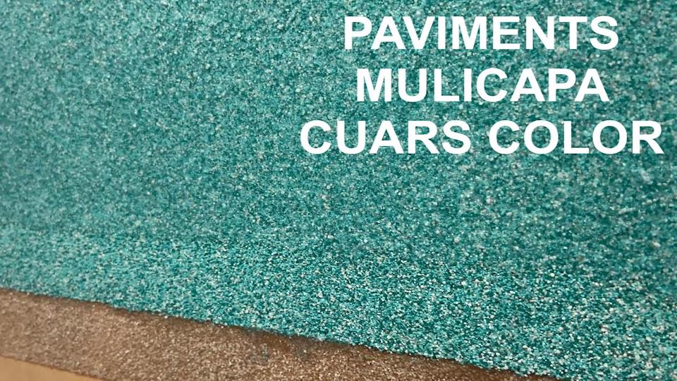 Paviment multicapa de cuars color