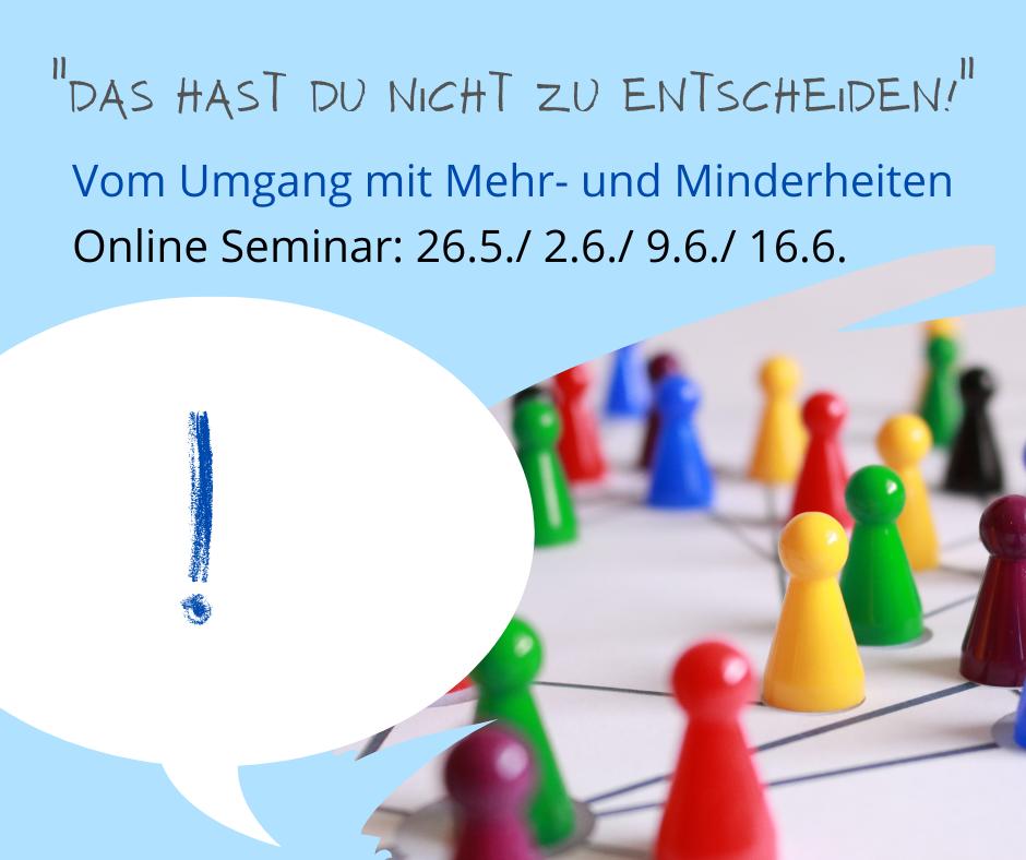 """""""Das hast du nicht zu entscheiden!"""" - Online-Seminar"""
