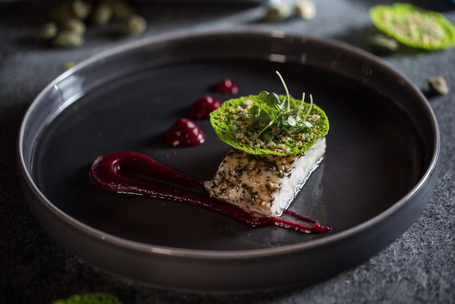 pochierter Skrei, Wasabi Hippe, Foodfotografie / Rezept Guido Weber
