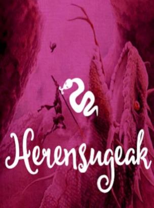 Herensugeak representa a los dragones que pueblan las simas de los montes vascos. Echan fuego por la boca, y tienen forma de dragon, largarto o serpiente.