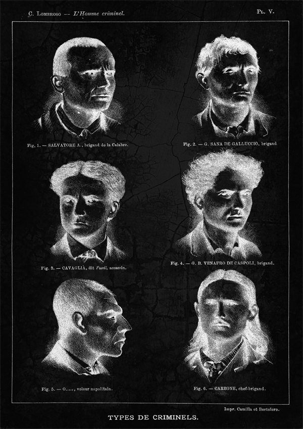 Extrait de L'Homme criminel, de Cesare Lombroso