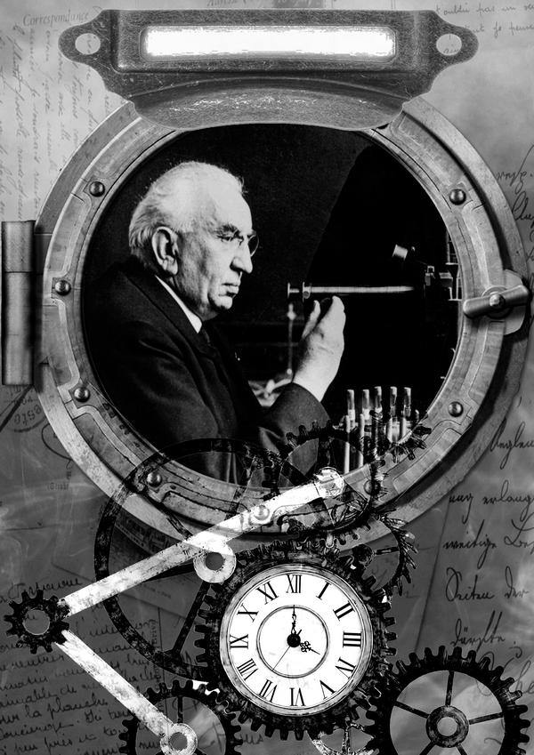 Le professeur Eugène ESPINASSE, inventeur du dernier modèle de nécrophone
