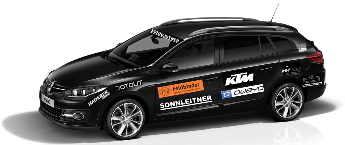 Unser Teamauto von Sonnleitner - Renault Megane