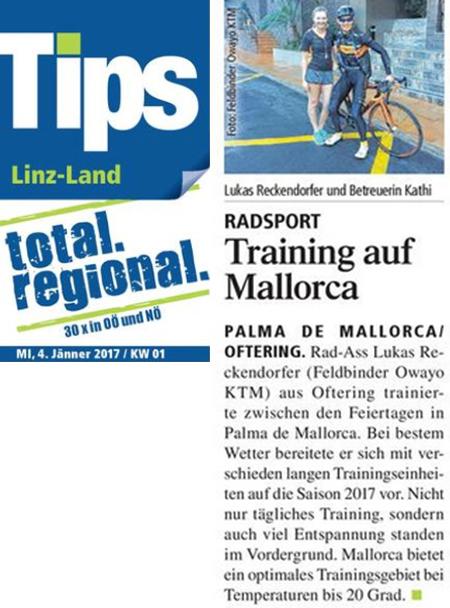 Pressebericht zu Lukis Trainingslager auf Malle