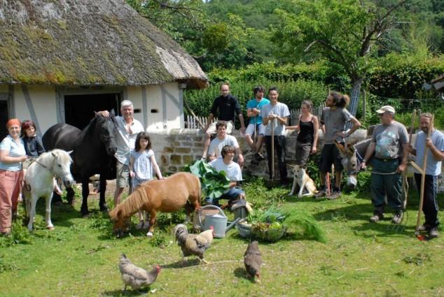la ferme du Bec Hellouin comprend un pôle de recherche et une école de permaculture photo Ouest France