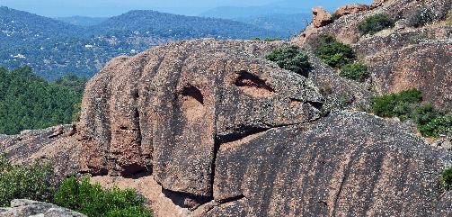 les rochers sculptés par le vent