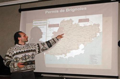 Julien Beltramo, docteur en géologie, à Sillans la Cascade le 21/1/2012